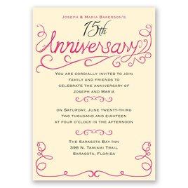 Charming Touches - Anniversary Invitation