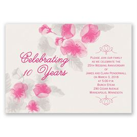 True Romance - Anniversary Invitation