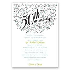 Forever Filigree - 50th Anniversary Invitation
