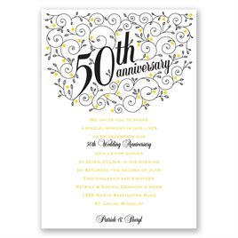 Forever Filigree - 50th Anniversary Invitation