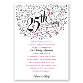 Forever Filigree - 25th Anniversary Invitation