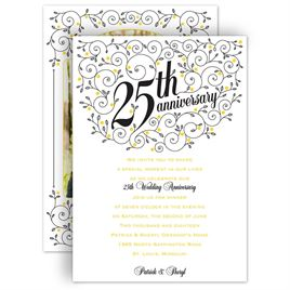 Anniversary party invitations invitations by dawn anniversary party invitations forever filigree 25th anniversary invitation stopboris Image collections