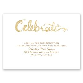 Love Sparkles - Timber Faux Glitter - Reception Card