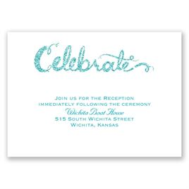 Love Sparkles - Palm Faux Glitter - Reception Card