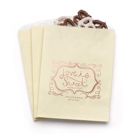Love is Sweet - Ecru - Favor Bags