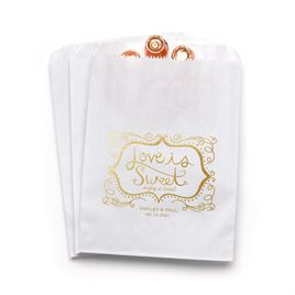 Love is Sweet - White - Favor Bags