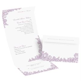 Lacy Corners  - Seal and Send Invitation