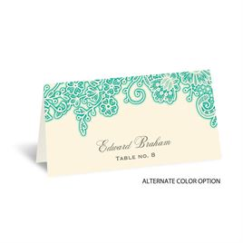 Lacy Corners - Ecru - Place Card