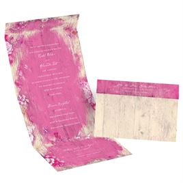 Rustic Beach - Raspberry - Seal and Send Invitation