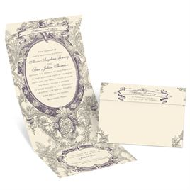 Vintage Cherub  - Ecru - Seal and Send Invitation