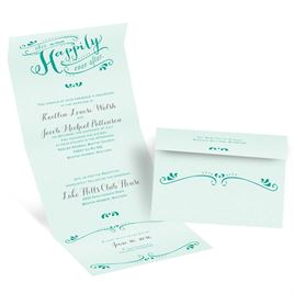 Our Ever After - Mint - Seal and Send Invitation