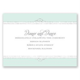Radiant - Mint Faux Glitter - Reception Card