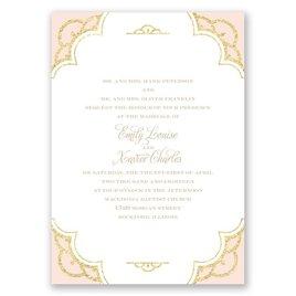 Radiant - Pastel Coral Faux Glitter - Invitation