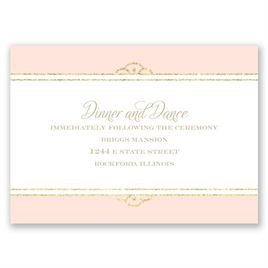 Radiant - Coral Faux Glitter - Reception Card