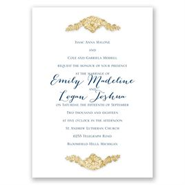 Shine Bright - Timber Faux Glitter - Invitation