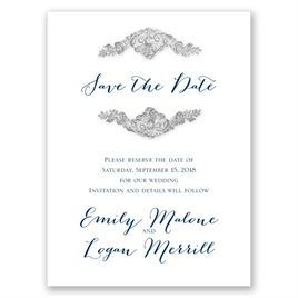 Shine Bright - Pewter Faux Glitter - Save the Date Card