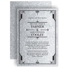 Art Deco Wedding Invitations: 