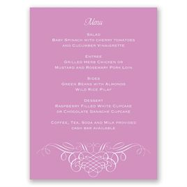 Elegant Filigree - Menu Card