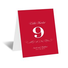 Elegant Filigree - Table Number Card