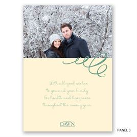 Old and New - Photo Holiday Card