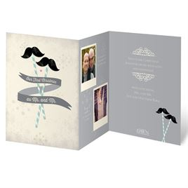 Mustache and Mustache - Photo Holiday Card