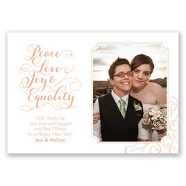 Peace, Love, Joy, Equality - Photo Holiday Card
