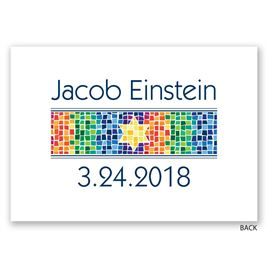Mosaic - Bar Mitzvah Invitation