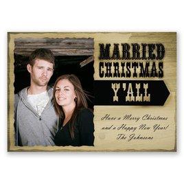 Rustic Christmas - Photo Holiday Card