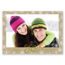 Snowflake Love - Photo Holiday Card