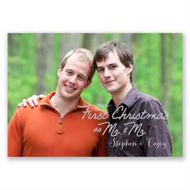 Stars and Snowflakes - Mr. and Mr. - Photo Holiday Card