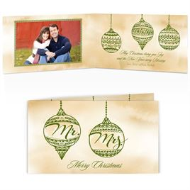 Mr. and Mrs. Ornaments - Photo Holiday Card