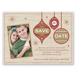 Christmas Save The Date Cards.Retro Holiday Holiday Card Save The Date