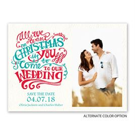 Christmas Wish - Holiday Card Save the Date