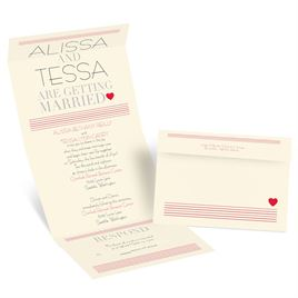 Striped Wedding Invitations: 