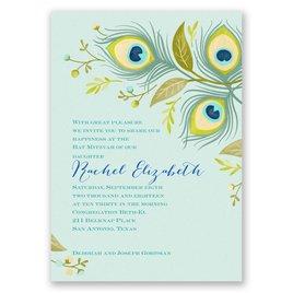 Pretty Peacock - Mitzvah Invitation