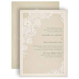 Lace Wedding Invitations Subtle Elegance Real Glitter Invitation