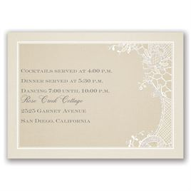Subtle Elegance - Real Glitter Reception Card