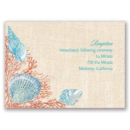 Shining Seashells - Poppy - Real Glitter Reception Card