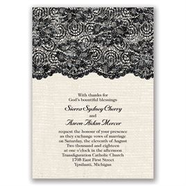 Luminous Lace - Real Glitter Invitation