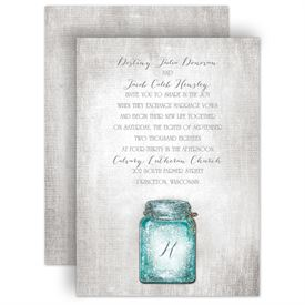 Real Glitter Wedding Invitations: 