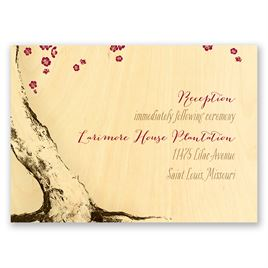 Tree Blossoms - Real Wood Reception Card