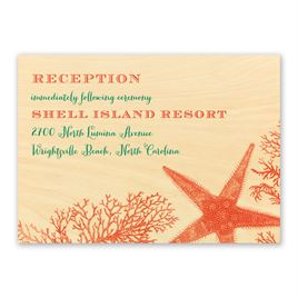 Coral Reef - Real Wood Reception Card