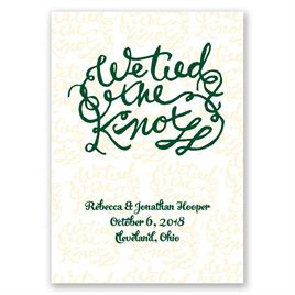 Tied the Knot - Wedding Announcement