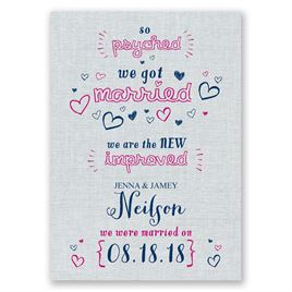 So Psyched - Wedding Announcement