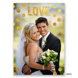 Polka Dot Love - Gold - Wedding Announcement