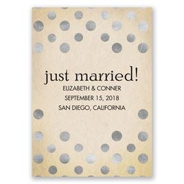 Polka Dot Love - Silver - Wedding Announcement