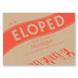 Mountain Escape - Wedding Announcement Postcard