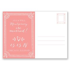 Charming Frame - Wedding Announcement Postcard
