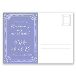 Charming Frame - Wedding Announcement Postcard