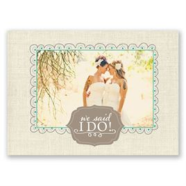 Beautiful Vows - Wedding Announcement Postcard